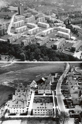 Die Wohnsiedlungen in Leverkusen-Opladen undNeustadt